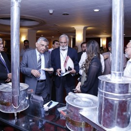 Mr. Chaudhry Muhammad Arshad, Managing Director, NTDCL, Pakistan exchanging views with Mr. Mohammad Naeem Malik, Director SEC,  Salis Usman, Programme Leader, SEC and other delegates on SAARC Improved Cooking Stoves (ICS).