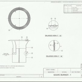 SAARC Burner - I, Chimney Assembly Design