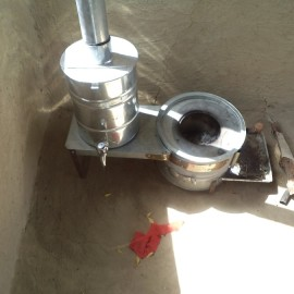 SAARC Improved Cooking Stove (ICS) in operation.